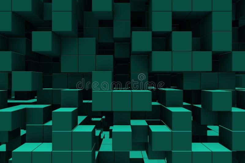 Priorità bassa astratta - cubi illustrazione di stock