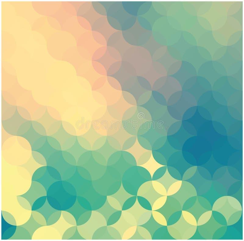 Priorità bassa astratta dei cerchi colorati illustrazione vettoriale