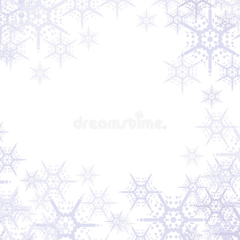 Priorità bassa astratta dei fiocchi di neve illustrazione vettoriale