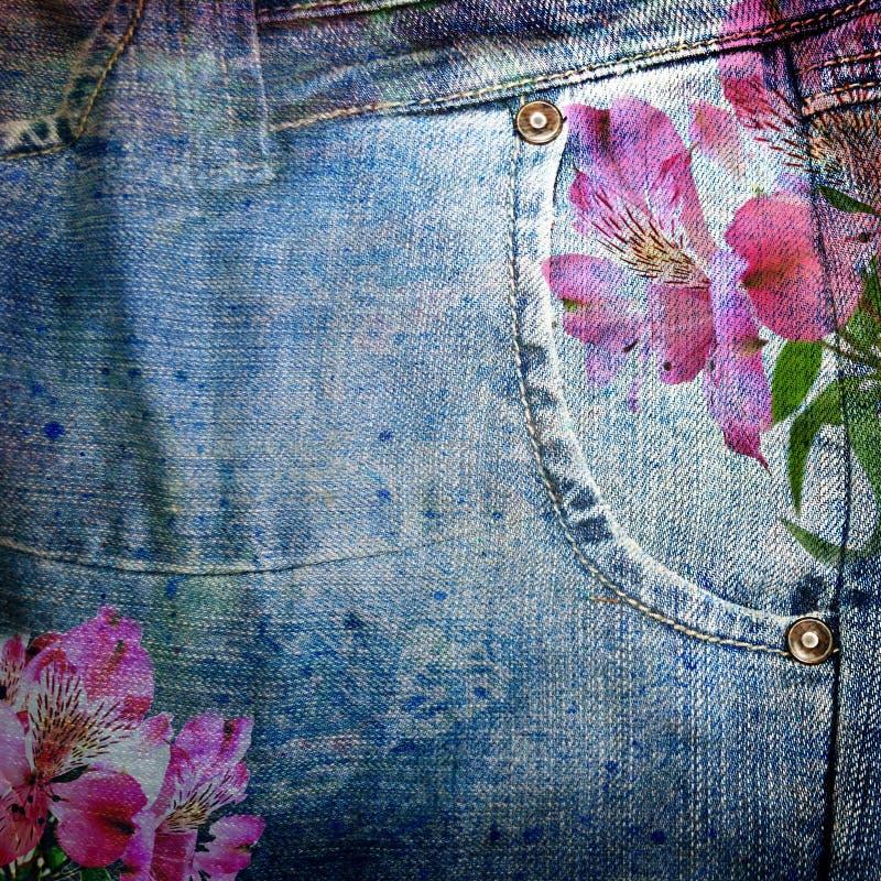 Priorità bassa astratta dei jeans illustrazione vettoriale