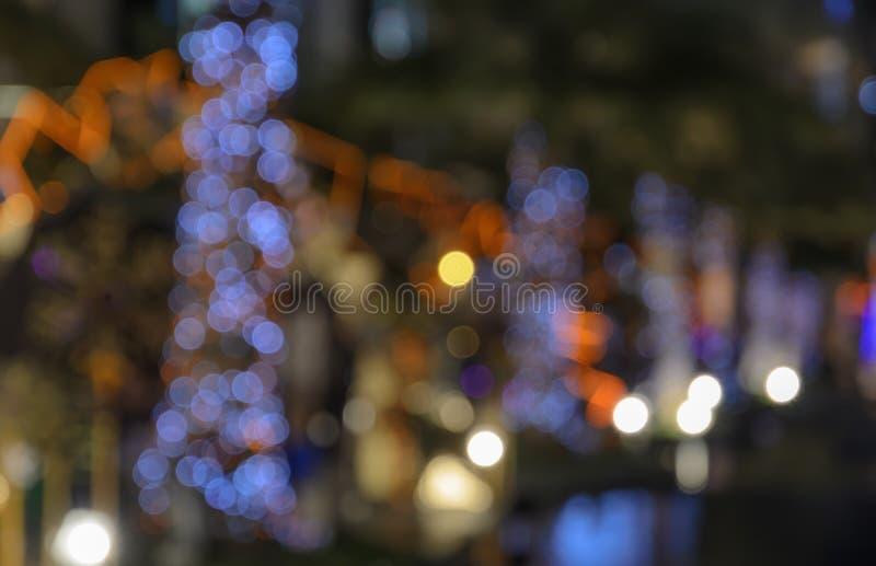 Priorità bassa astratta del bokeh degli indicatori luminosi di natale immagini stock libere da diritti