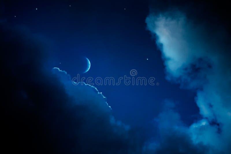 Priorità bassa astratta del cielo notturno di arte fotografie stock