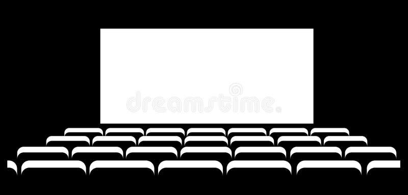 Priorità bassa astratta del cinematografo illustrazione vettoriale