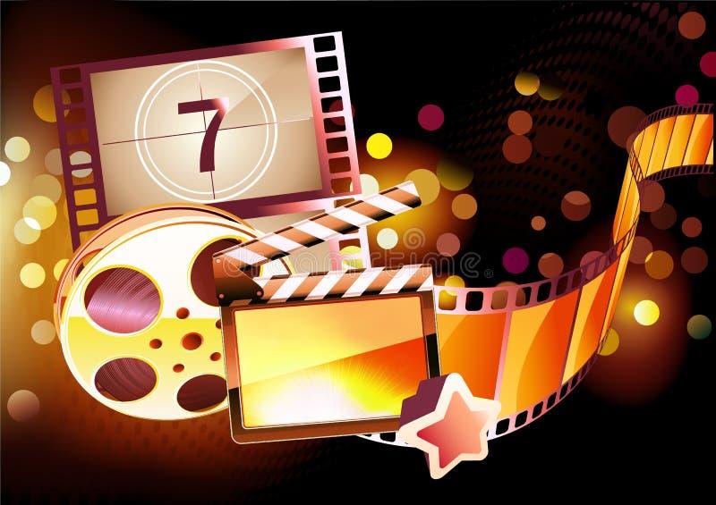 Priorità bassa astratta del cinematografo royalty illustrazione gratis