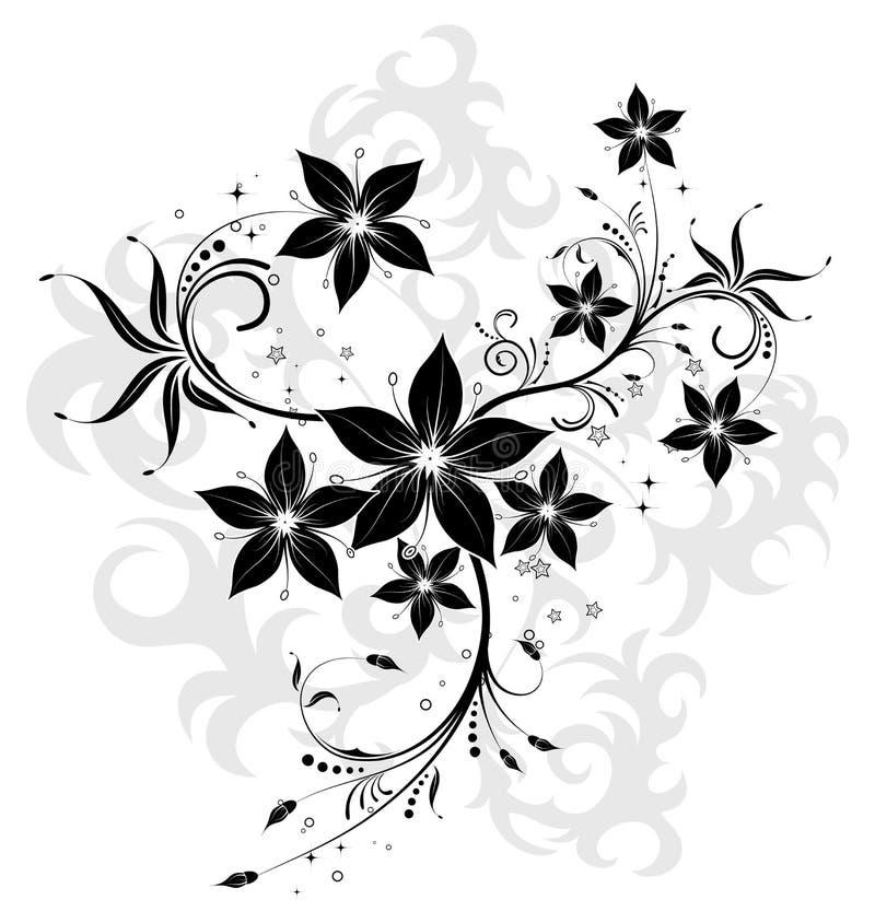 Priorità bassa astratta del fiore illustrazione di stock
