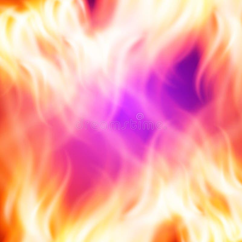 Priorità bassa astratta del fuoco illustrazione di stock