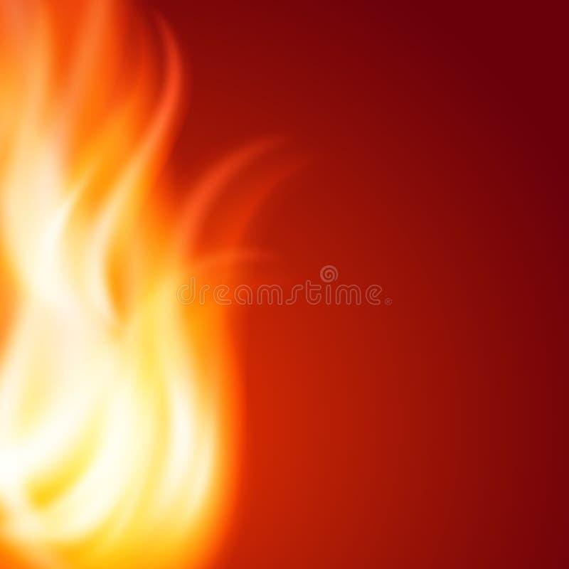 Priorità bassa astratta del fuoco illustrazione vettoriale