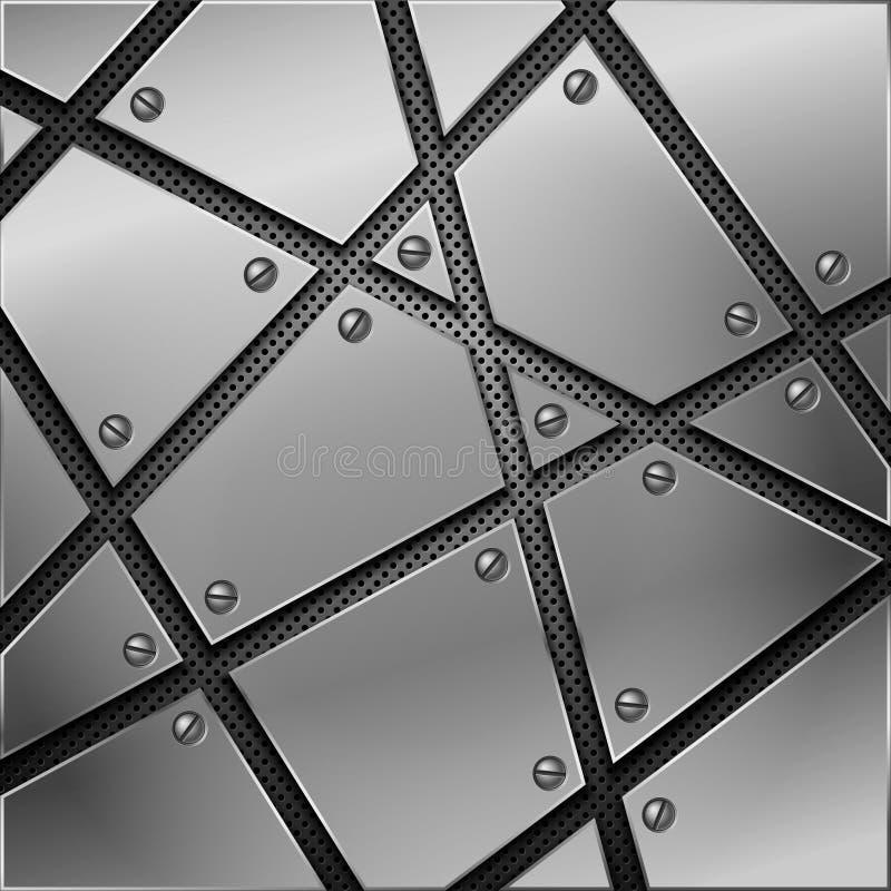 Priorità bassa astratta del metallo. illustrazione vettoriale