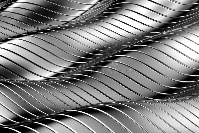 Priorità bassa astratta del metallo illustrazione vettoriale