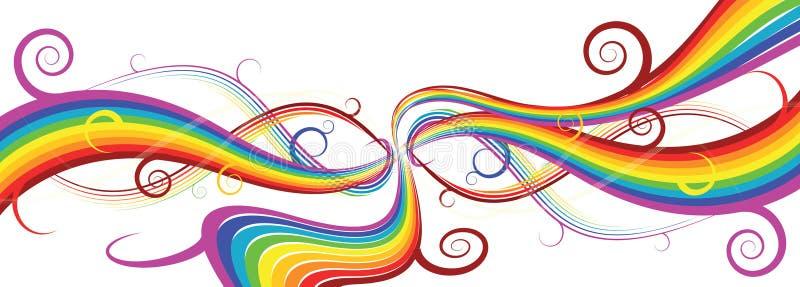 Priorità bassa astratta del Rainbow royalty illustrazione gratis