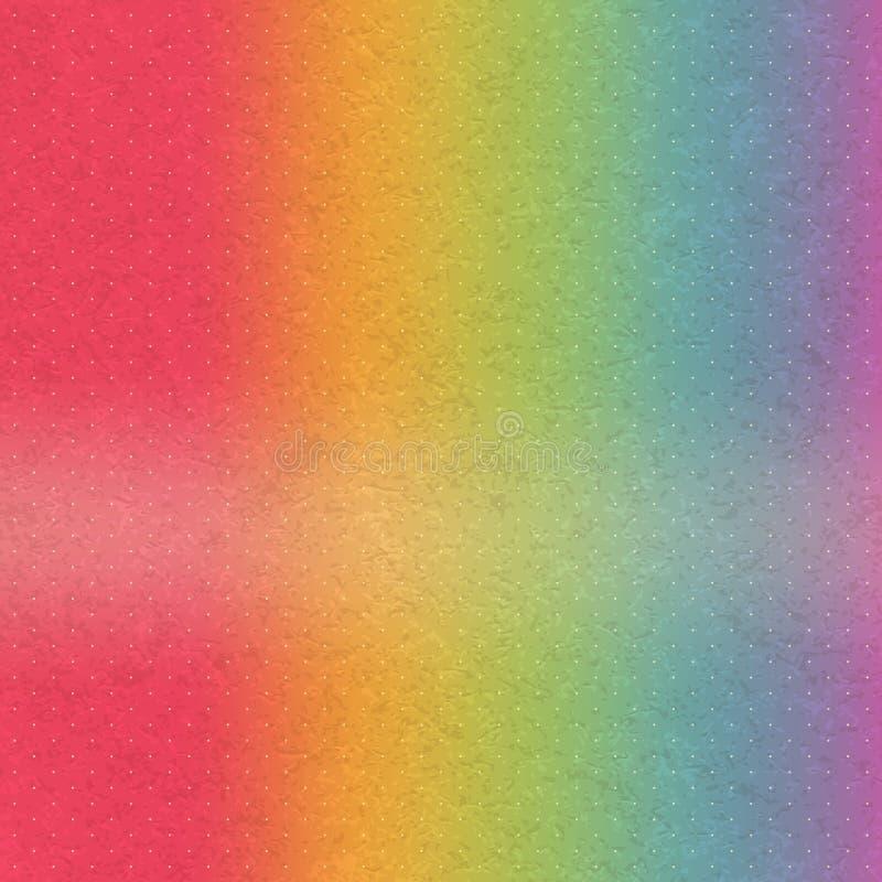 Priorità bassa astratta del Rainbow Lerciume luminoso illustrazione di stock