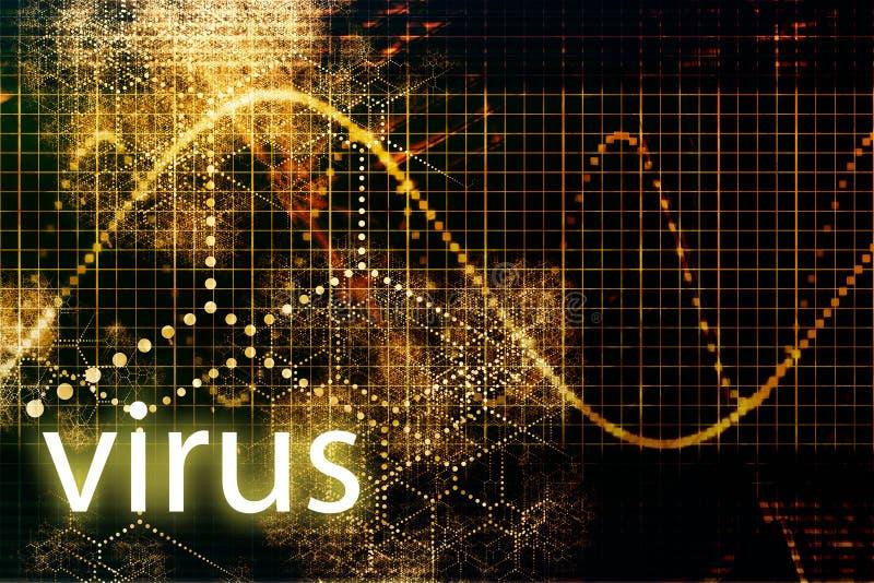 Priorità bassa astratta del virus illustrazione di stock