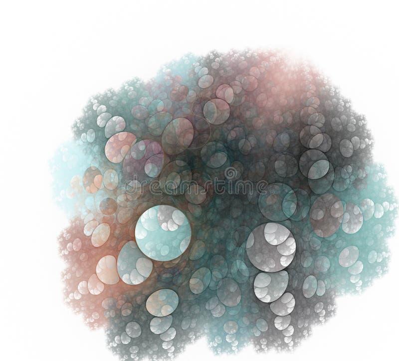 Priorità bassa astratta del virus Una progettazione moderna generata da computer astratta di frattale Struttura astratta di color illustrazione vettoriale