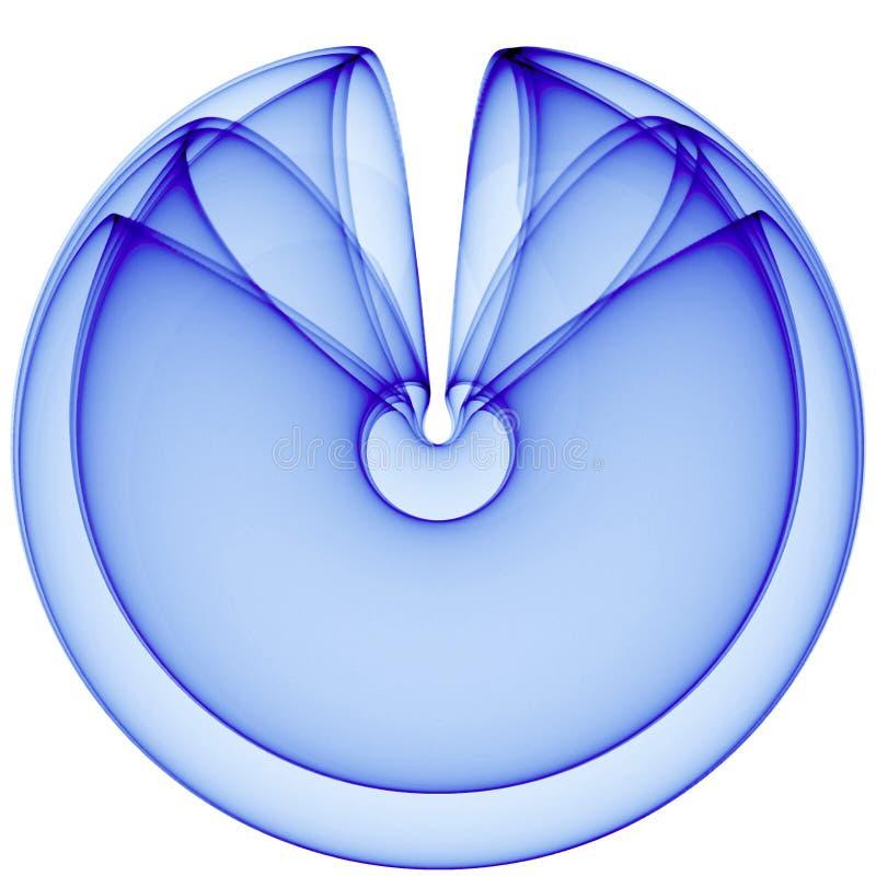Fondo astratto del blu 3d illustrazione di stock