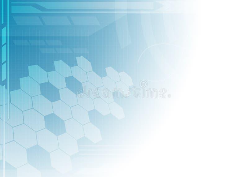 Priorità bassa astratta dell'azzurro di tecnologia. illustrazione vettoriale