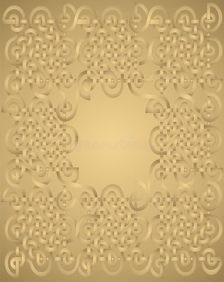 Priorità bassa astratta dell'oro - vettore illustrazione vettoriale