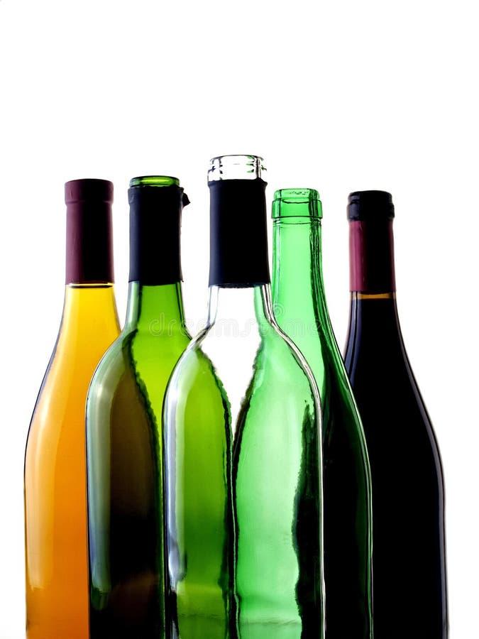 Priorità bassa astratta della cristalleria del vino fotografia stock