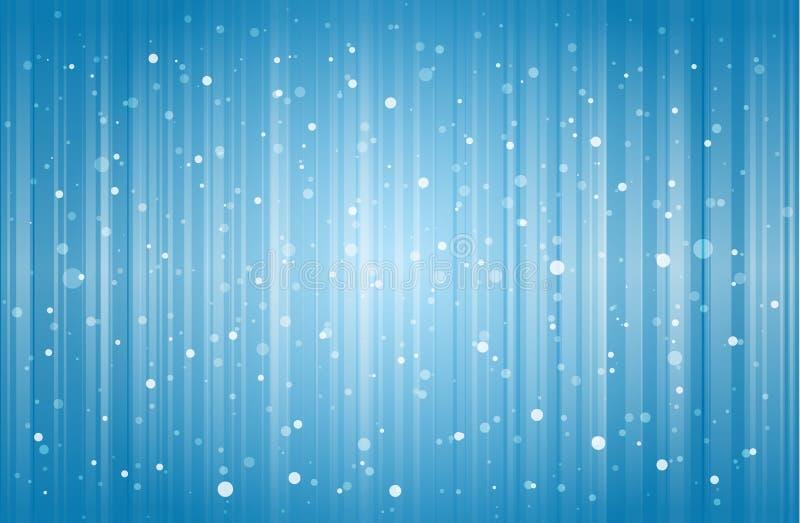 Priorità bassa astratta della neve illustrazione di stock
