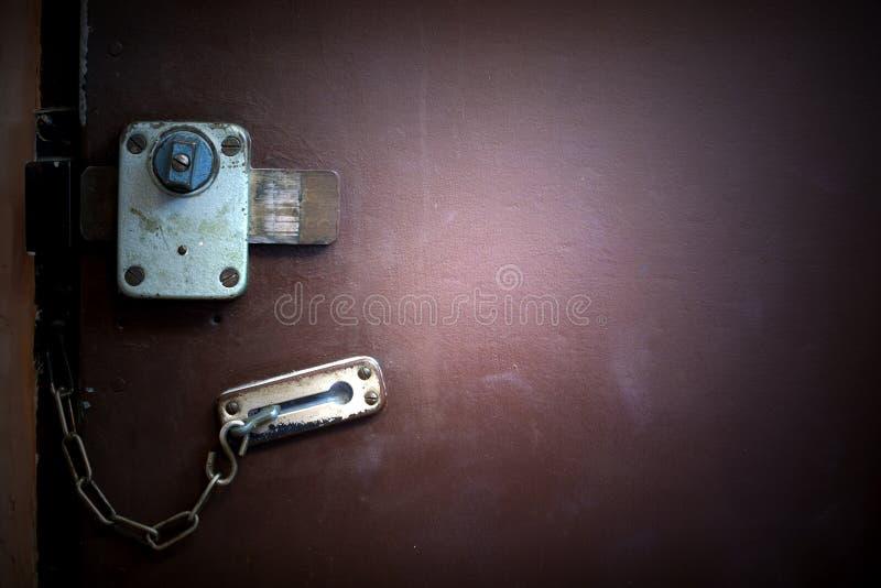 Priorità bassa astratta della serratura di portello immagine stock libera da diritti