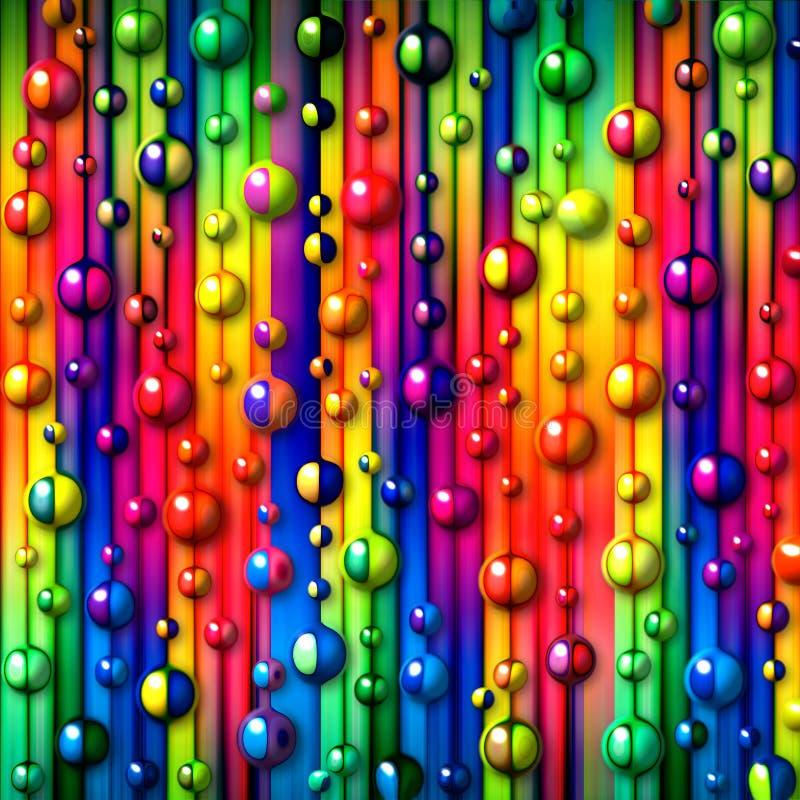 Priorità bassa astratta delle bolle variopinte illustrazione di stock