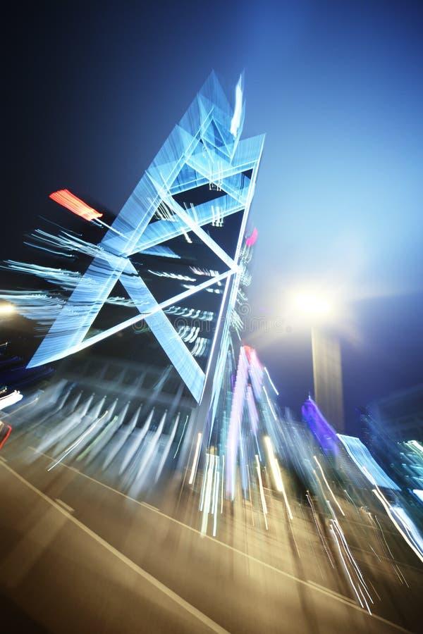 Priorità bassa astratta di architettura di notte fotografia stock