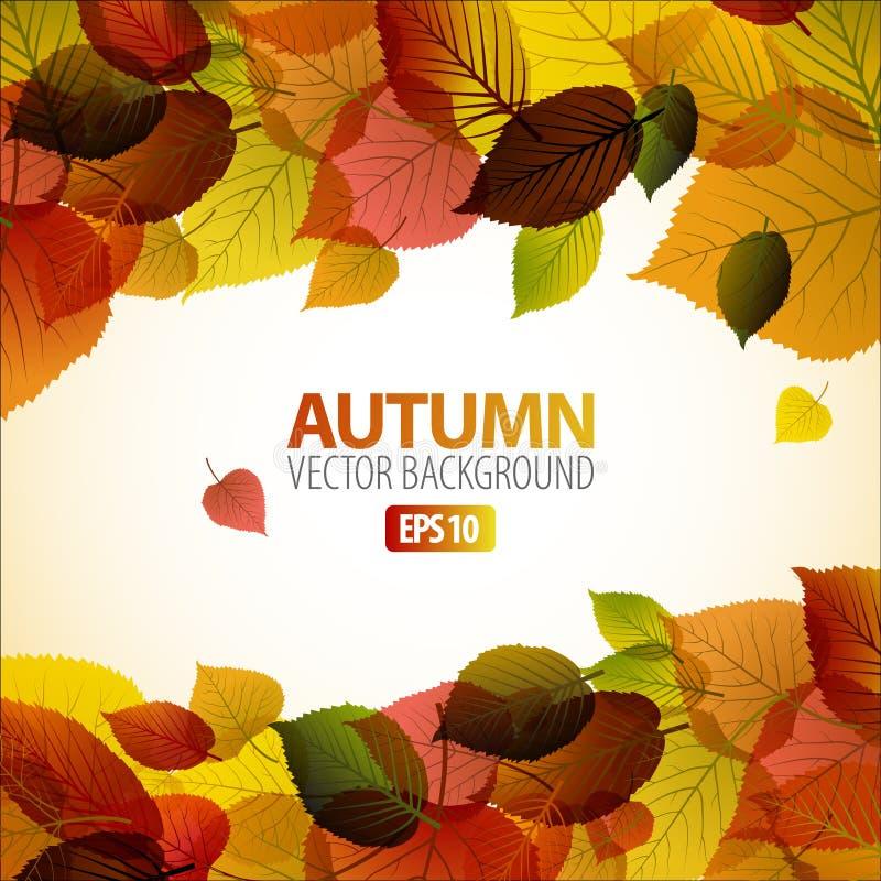 Priorità bassa astratta di autunno con i fogli variopinti royalty illustrazione gratis