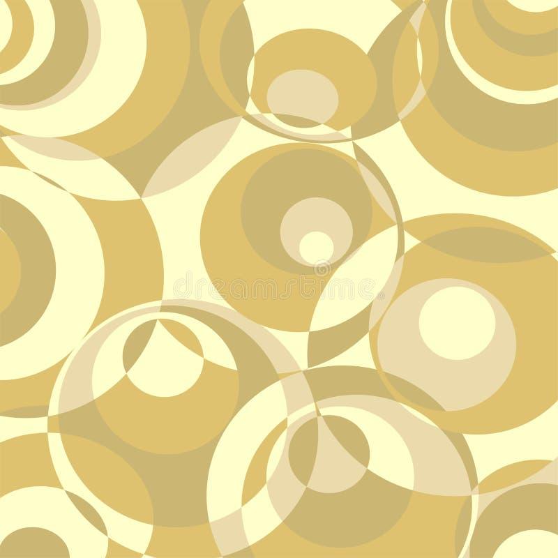 Priorità bassa astratta di disegno dei cerchi illustrazione di stock