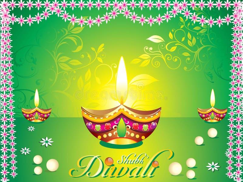Priorità bassa astratta di diwali illustrazione vettoriale