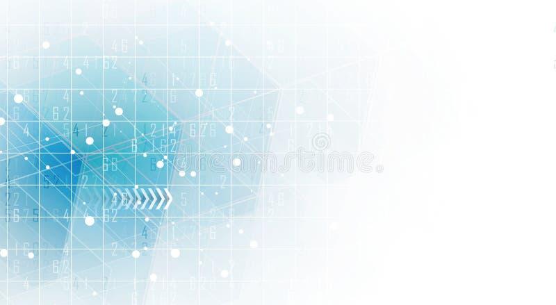 Priorità bassa astratta di esagono Progettazione poligonale di tecnologia Digita illustrazione di stock