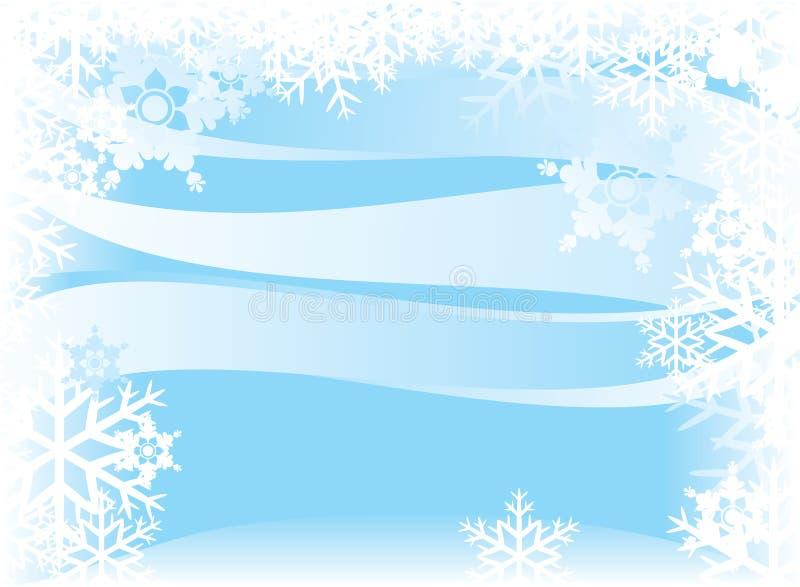 Priorità bassa astratta di inverno illustrazione vettoriale