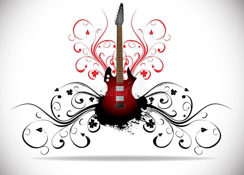 Priorità bassa astratta di musica illustrazione di stock