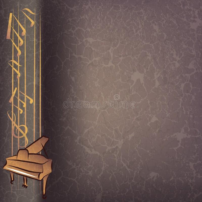Priorità bassa astratta di musica con il piano royalty illustrazione gratis