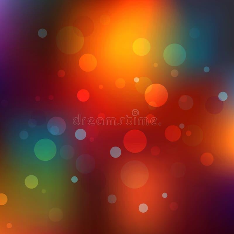 Priorità bassa astratta di natale Bokeh variopinto di festa Fondo vago luminoso ed astratto dell'arcobaleno illustrazione di stock