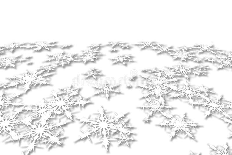 Priorità bassa astratta di natale con i fiocchi di neve illustrazione di stock