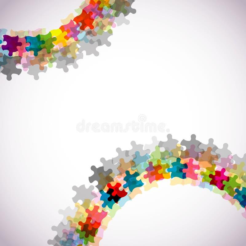 Priorità bassa astratta di puzzle, eps10 illustrazione di stock
