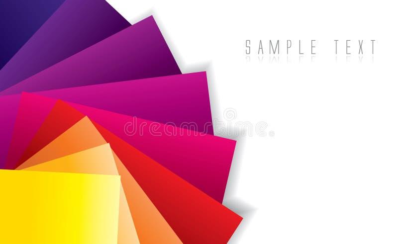 Priorità bassa astratta di spettro di colore illustrazione vettoriale