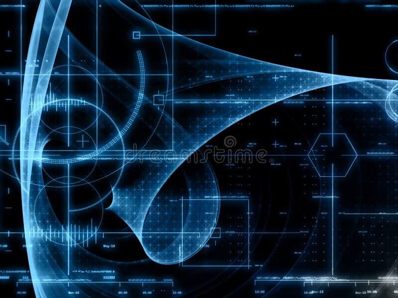 Priorità bassa astratta di tecnologia illustrazione vettoriale