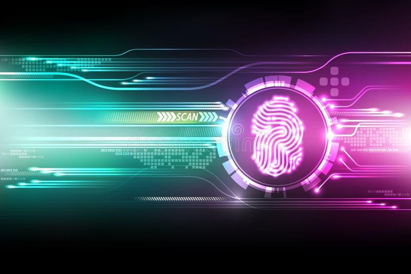 Priorità bassa astratta di tecnologia Concetto di sistema di sicurezza illustrazione di stock