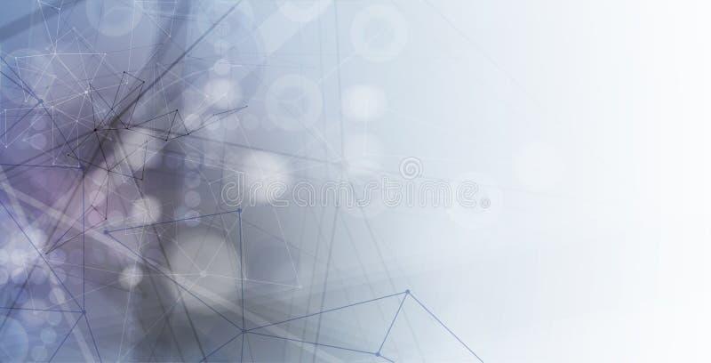 Priorità bassa astratta di tecnologia Interfaccia futuristica di tecnologia illustrazione di stock