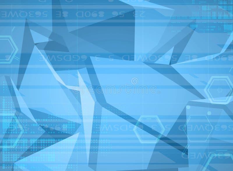 Download Priorità Bassa Astratta Di Tecnologia Interfaccia Futuristica Di Tecnologia Vettore Illustrazione Vettoriale - Illustrazione di poligono, visualizzazione: 56883298