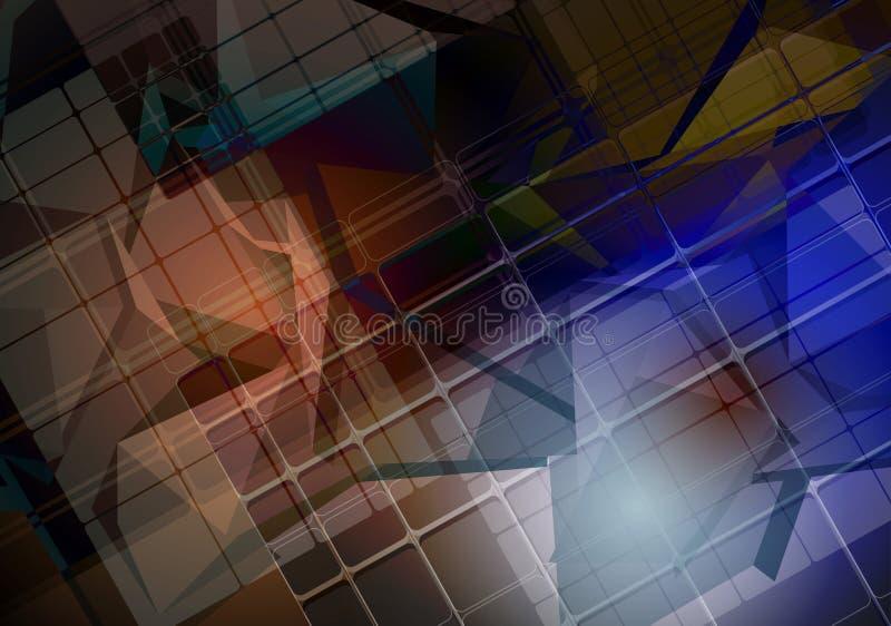 Download Priorità Bassa Astratta Di Tecnologia Interfaccia Futuristica Di Tecnologia Vettore Illustrazione di Stock - Illustrazione di copertura, riga: 56883325