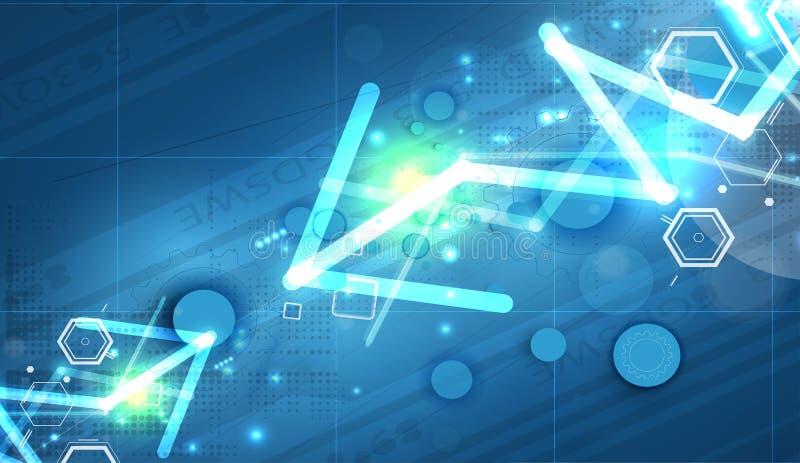 Download Priorità Bassa Astratta Di Tecnologia Interfaccia Futuristica Di Tecnologia Vettore Illustrazione di Stock - Illustrazione di background, corporativo: 56883393