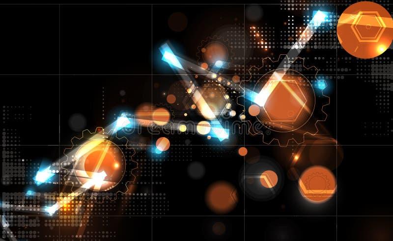 Download Priorità Bassa Astratta Di Tecnologia Interfaccia Futuristica Di Tecnologia Vettore Illustrazione Vettoriale - Illustrazione di modello, concetto: 56884454