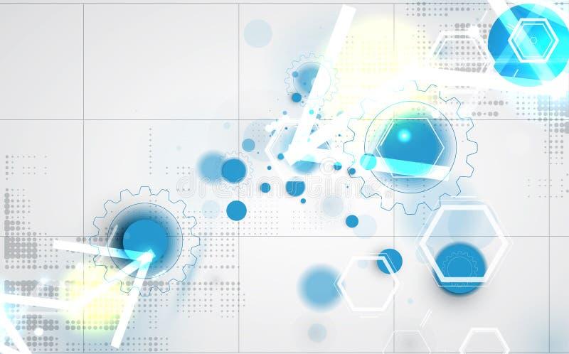 Download Priorità Bassa Astratta Di Tecnologia Interfaccia Futuristica Di Tecnologia Vettore Illustrazione di Stock - Illustrazione di corporativo, schermo: 56885010