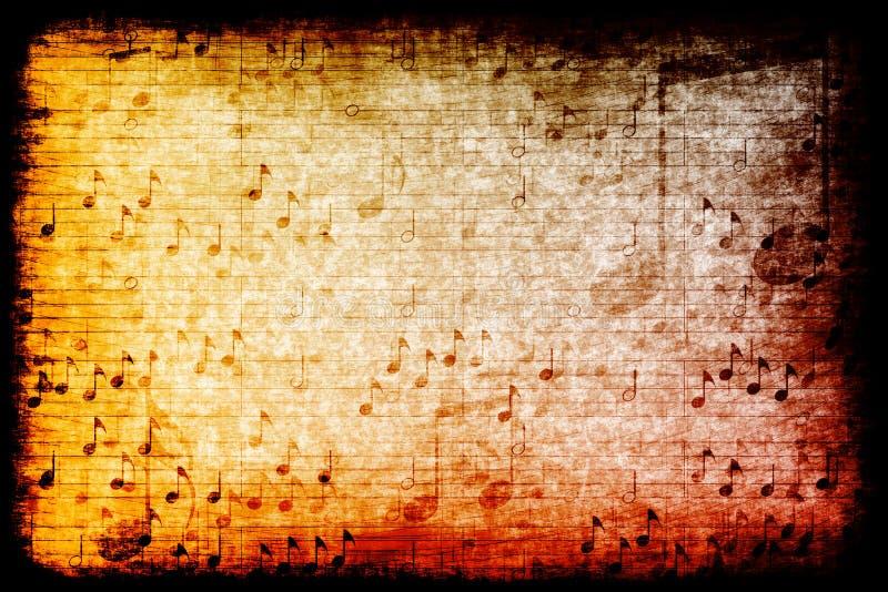 Priorità bassa astratta di tema di Grunge di musica illustrazione vettoriale