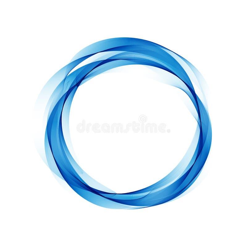 Priorità bassa astratta di vettore con i cerchi blu illustrazione di stock