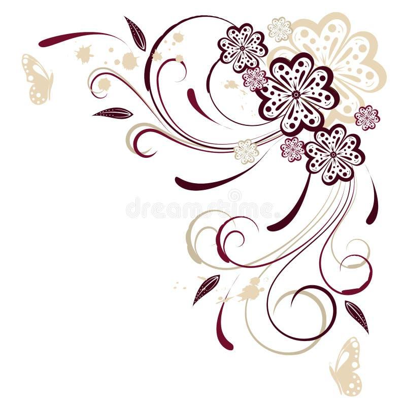 Priorità bassa astratta floreale royalty illustrazione gratis