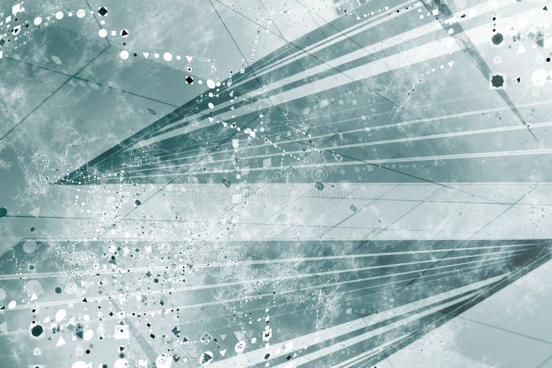 Priorità bassa astratta futuristica generica di Grunge illustrazione di stock