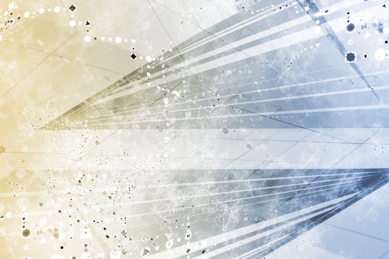 Priorità bassa astratta futuristica generica di Grunge illustrazione vettoriale