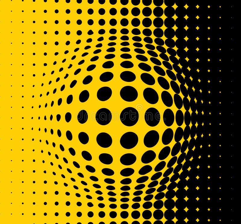 Priorità bassa astratta gialla illustrazione vettoriale